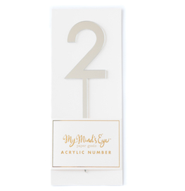 2 silver acrylic number  - party pick