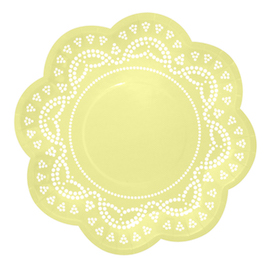Lemon Lovely Lace  - paper plates