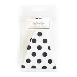 Black & white dots  - mini banner