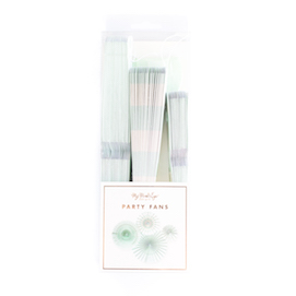 Basics party fans  - Mint