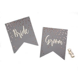Bride Groom  - chair banners