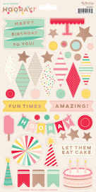 Hooray 6 x 12  - sticker sheet