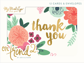 On Trend 2  - envelope card set