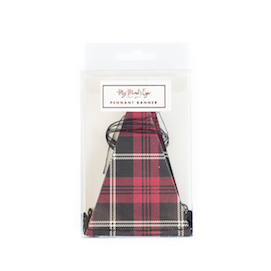 Plaid mini  - pennant banner