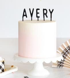 Cake by Courtney letter  - board toppers BLACK