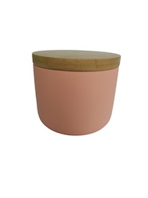 Pale pink canister