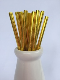 Solid Gold  - Paper Straws