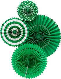 Basics Party Fans  - Green