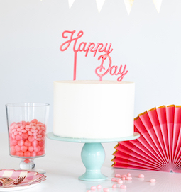 Cake by Courtney  - Happy Day cake topper