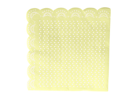 Lemon Lovely  - Lace napkins