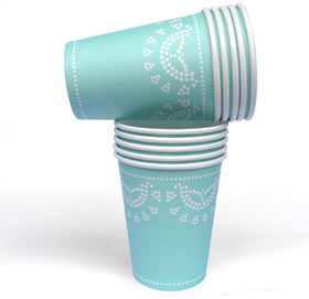 Tiffanesque Lovely Lace  - paper cups