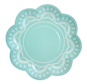 Tiffanesque Lovely Lace   - paper plates
