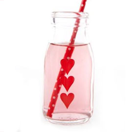 Traditional Glass - Milk love bottle