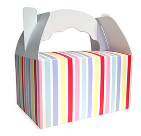40% OFF -  Snack Box - Carnival stripe