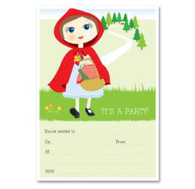 Little Red Riding Hood - Write-in invitations