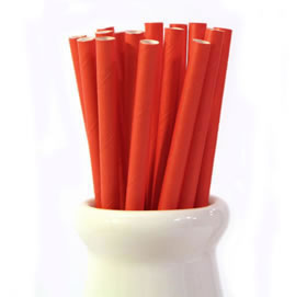 Paper Straws - Solid red