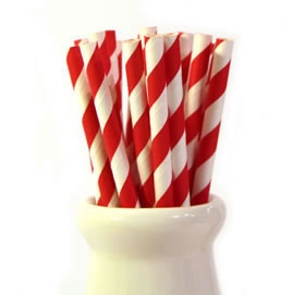 Paper Straws - Red stripe