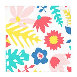 Floral  - party napkins