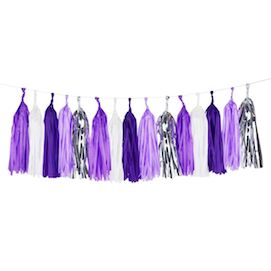 Lilac  - party tassel