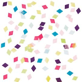Multicolour diamonds  - party confetti
