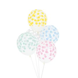 Multicolour Pastel dots  - party balloon