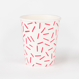 Red sprinkles  - party cups