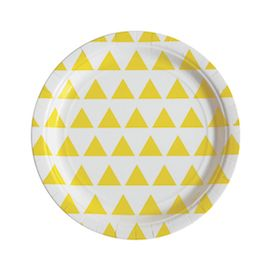 Yellow triangles  - party plates