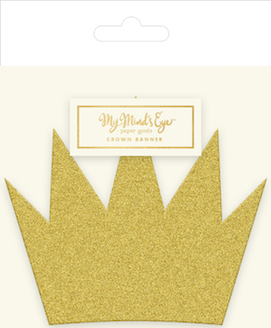 Gold crown  - party banner
