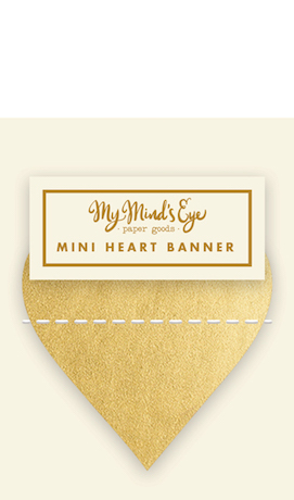 Gold Heart  - mini banner