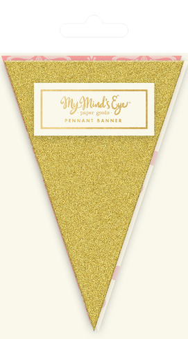 Gold  - pennant banner