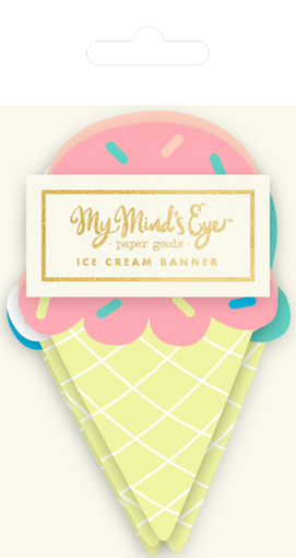 Ice cream  - party banner