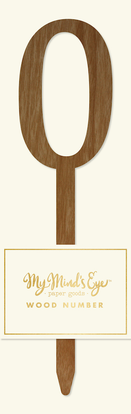 0 Wooden number  - party pick