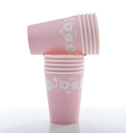 Daisy Chain Pink  - paper cups