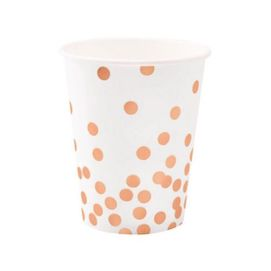 Rose Gold Confetti  - paper cups
