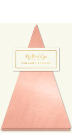 Rose Gold Pennant Banner