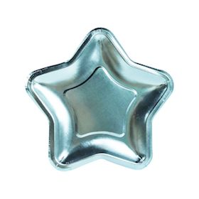 Metallic Blue Star  - Plates NEW