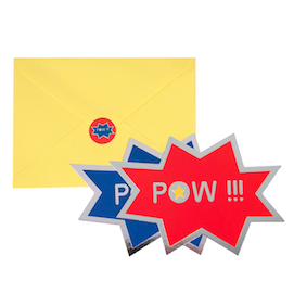 POW superhero  - invites