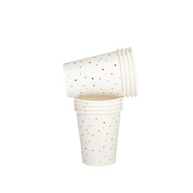 Tiny Square Confetti  - paper cups