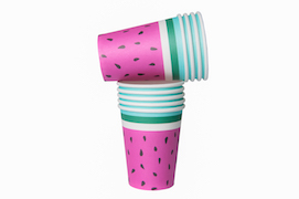 Watermelon  - paper cups